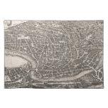 Mapa del vintage de Roma Italia (1652) Mantel