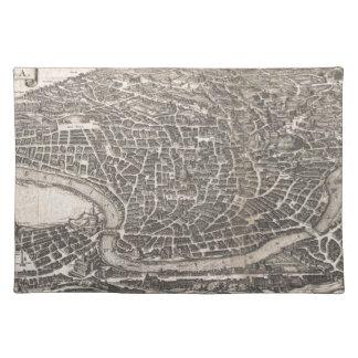 Mapa del vintage de Roma Italia (1652) Manteles Individuales