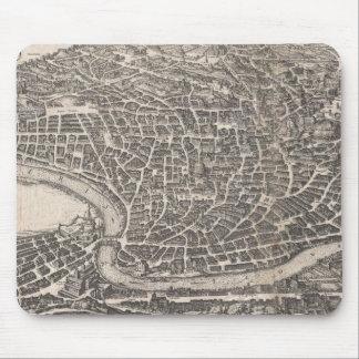 Mapa del vintage de Roma Italia (1652) Mouse Pad