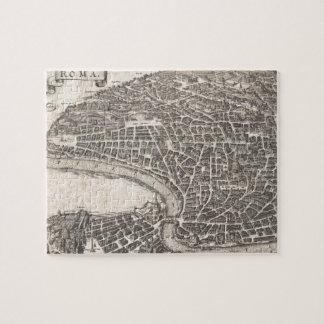 Mapa del vintage de Roma Italia (1652) Puzzle