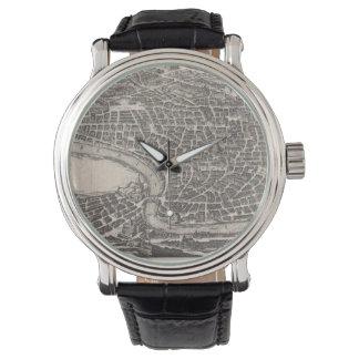 Mapa del vintage de Roma Italia (1652) Reloj