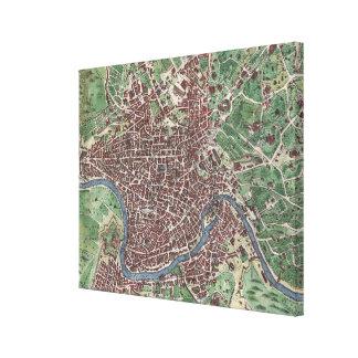 Mapa del vintage de Roma Italia (1721) - 2,0 Impresión En Tela
