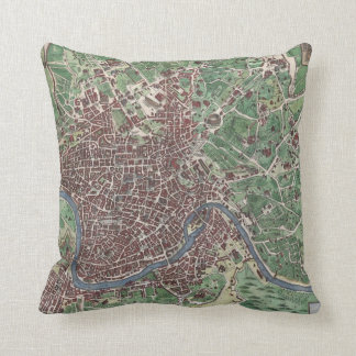 Mapa del vintage de Roma Italia (1721) Cojín