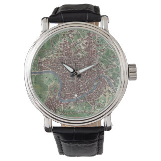 Mapa del vintage de Roma Italia (1721) Relojes De Pulsera