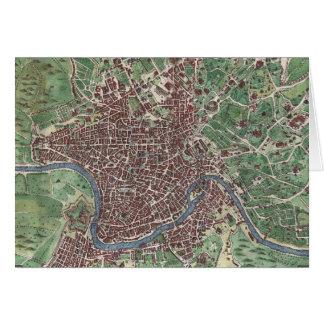 Mapa del vintage de Roma Italia (1721) Tarjeta De Felicitación