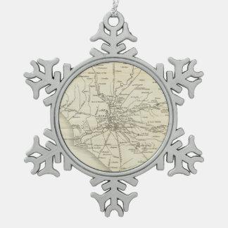 Mapa del vintage de Roma Italia (1821) Adornos