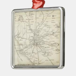 Mapa del vintage de Roma Italia (1821) Ornatos