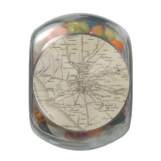 Mapa del vintage de Roma Italia (1821) Frascos De Cristal Jelly Belly