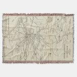 Mapa del vintage de Roma Italia (1821) Manta