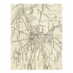 Mapa del vintage de Roma Italia (1821) Plantillas De Membrete