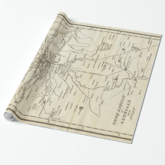 Mapa del vintage de Roma Italia (1821) Papel De Regalo