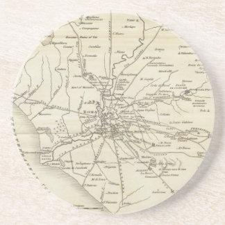 Mapa del vintage de Roma Italia (1821) Posavasos Cerveza