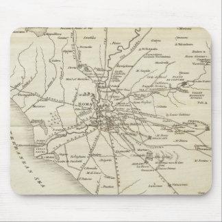 Mapa del vintage de Roma Italia (1821) Tapete De Raton