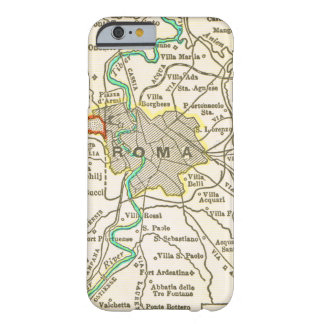 Mapa del vintage de ROMA ITALIA Funda Para iPhone 6 Barely There