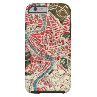 Mapa del vintage de Roma, Italia Funda De iPhone 6 Tough