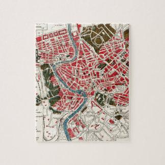 Mapa del vintage de Roma, Italia Puzzles