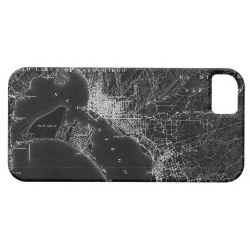Mapa del vintage de San Diego Funda Para iPhone SE/5/5s