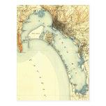 Mapa del vintage de San Diego Tarjeta Postal
