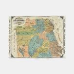 Mapa del vintage de San Francisco (1890) Manta De Forro Polar