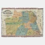 Mapa del vintage de San Francisco (1890) Manta