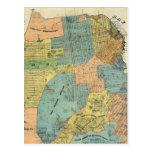 Mapa del vintage de San Francisco (1890) Postales