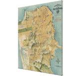 Mapa del vintage de San Francisco (1915) Impresion De Lienzo