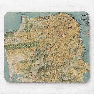 Mapa del vintage de San Francisco (1915) Tapete De Raton