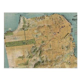 Mapa del vintage de San Francisco (1915) Tarjetas Postales