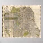 Mapa del vintage de San Francisco (1932) Posters