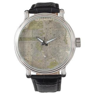 Mapa del vintage de San Francisco (1932) Relojes