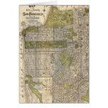 Mapa del vintage de San Francisco (1932) Felicitaciones