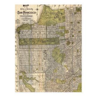 Mapa del vintage de San Francisco (1932) Postales