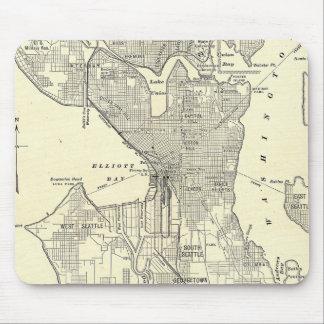 Mapa del vintage de Seattle (1914) Alfombrilla De Ratón