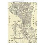 Mapa del vintage de Seattle (1914) Tarjeta De Felicitación