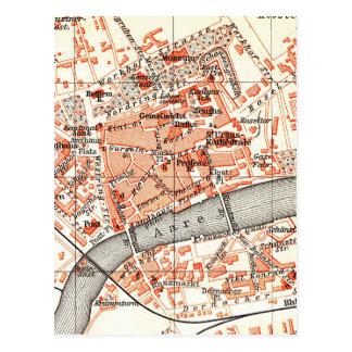 Mapa del vintage de Solothurn Suiza 1913