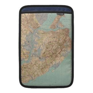Mapa del vintage de Staten Island (1891) Funda MacBook