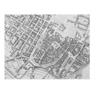 Mapa del vintage de Stuttgart Alemania (1794) Tarjeta Postal