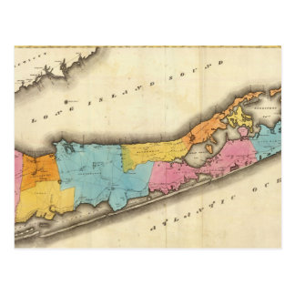 Mapa del vintage de Suffolk Nueva York (1829) Postal