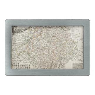 Mapa del vintage de Suiza (1771) Hebilla De Cinturón