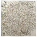 Mapa del vintage de Suiza (1771) Servilleta De Papel
