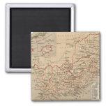 Mapa del vintage de Suráfrica (1880) Imanes De Nevera