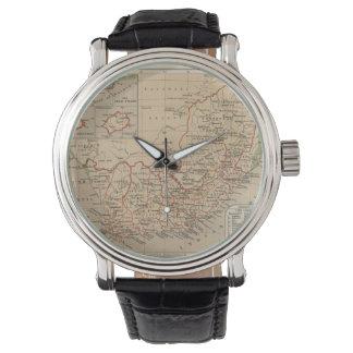 Mapa del vintage de Suráfrica (1880) Relojes
