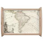 Mapa del vintage de Suramérica (1762) Bandejas