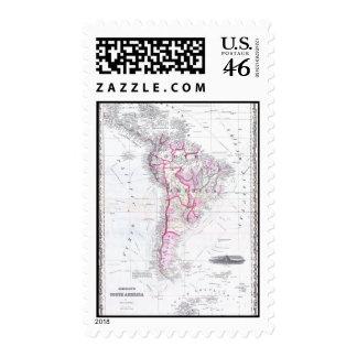 Mapa del vintage de Suramérica 1861