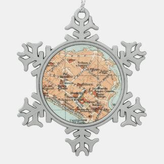Mapa del vintage de Syracuse Italia (1905) Adorno
