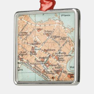 Mapa del vintage de Syracuse Italia (1905) Ornamento Para Arbol De Navidad