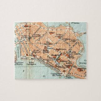 Mapa del vintage de Syracuse Italia (1905) Puzzles