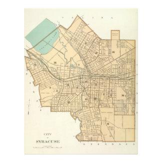 Mapa del vintage de Syracuse Nueva York (1895) Plantilla De Membrete