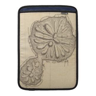 Mapa del vintage de Tahití (1773) Fundas MacBook