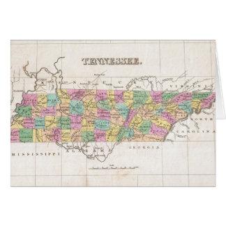 Mapa del vintage de Tennessee (1827) Tarjetón